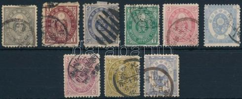 1876-1888 9 stamps 1876-1888 9 klf bélyeg