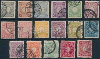 1899-1906 17 stamps 1899-1906 17 klf bélyeg