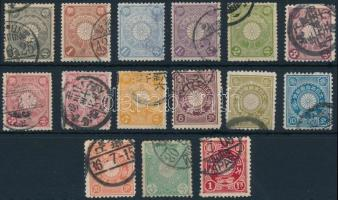 1899-1906 15 diff stamps, 1899-1906 15 klf bélyeg