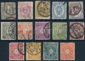 1876-1906 14 stamps 1876-1906 14 klf bélyeg