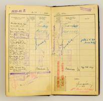 1939 Bölcsészkari leckekönyv Häckel Ernő, Domannovszky, Kornis Gyula, Országh László és más jeles tudósok aláírásával