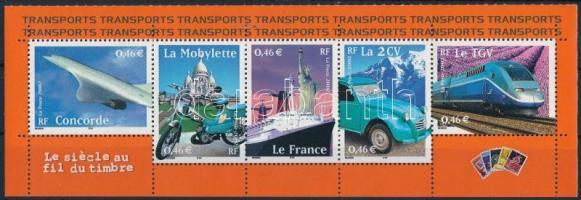 2002 20. századi közlekedés 5-ös csík Mi 3608-3612