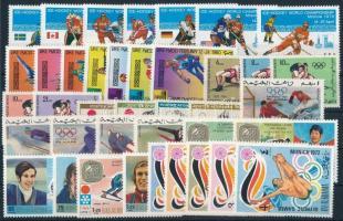 Olympics, sport 1964-1980 4 sets + 10 stamps, Olimpia, sport motívum 1964-1980 4 klf sor + 10 klf önálló érték