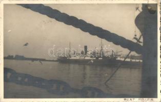 1937 Haifa, port, steamships, Silbiger photo