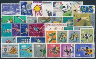 Sport 1970-1984 26 stamps + 5 sets, Sport motívum 1970-1984 26 klf önálló érték + 5 klf sor