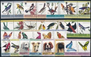 Animals 4 sets + 2 stamps Állat motívum 4 klf sor + 2 klf önálló érték