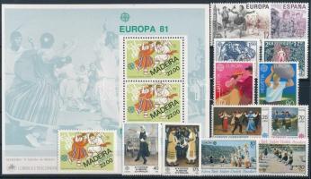 Europa CEPT 6 sets + 1 block + 1 stamp, Europa CEPT motívum 6 klf sor + 1 blokk + 1 db önálló érték