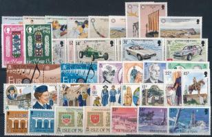 1984-1986 40 diff stamps, 1984-1986 40 db klf bélyeg, közte teljes sorok stecklapon
