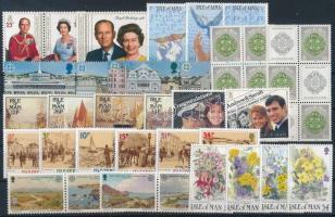 1986-1987 38 diff stamps, 1986-1987 38 db bélyeg, közte teljes sorok, összefüggések és 2 db bélyegfüzetlap