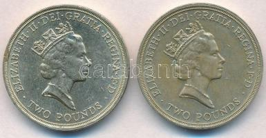 Nagy-Britannia 1986-1989. 2Ł (2xklf) T:2 Great Britain 1986-1989. 2 Pounds (2xdiff) C:XF