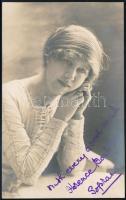 Florence Bostock angol énekesnő aláírt fotólapja / English actress, opera singer autograph signed photo.