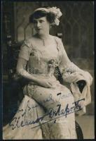 Eleanor Delaporte amerikai színésznő aláírt fotólapja / American actress autograph signed photo.