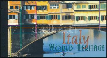 UNESCO World Heritage: Italy stamp booklet, UNESCO Világörökség: Olaszország bélyegfüzet