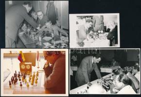 cca 1950-1980 Sakkozókat ábrázoló fotók / Chess photos