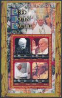 Pope John Paul II. minisheet, II. János Pál pápa kisív