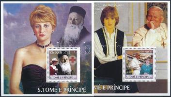 2003 Diana hercegnő bélyegek blokk formában Mi 2426+2428
