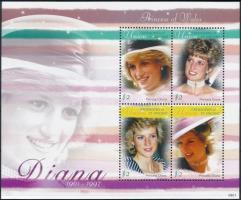 Princess Diana mini sheet Diana hercegnő kisív
