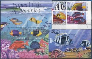 Sea fishes set + mini sheet + block Tengeri halak sor + kisív + blokk