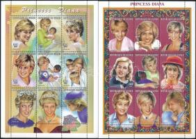 Princess Diana 2 mini sheets Diana hercegnő 2 klf kisív