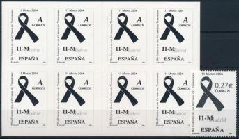 2004 A terrorizmus áldozatainak emléknapja Mi 3942 + 3943 bélyegfüzet