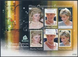 Princess Diana mini sheet Diana hercegnő halálának 10. évfordulója kisív
