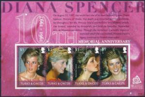 Princess Diana block Diana hercegnő halálának 10. évfordulója blokk