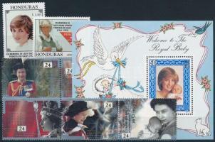 Princess Diana 1982-1992 2 sets + 1 block Diana hercegnő 1982-1992 2 klf sor + 1 blokk