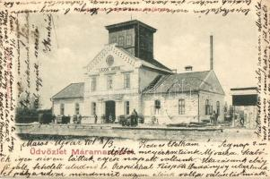 Aknaszlatina, Slatinské Doly, Solotvyno; Lajos akna munkásokkal. Berger Miksa kiadása / mine with miners