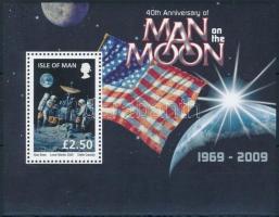 "40th anniversary of the ""Man on the Moon"" block, ,,Ember a Holdon"" 40. évforduló blokk"