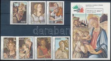 Nemzetközi bélyegkiállítás ITALIA: Róma sor + blokk, International Stamp Exhibition ITALIA: Rome set + block