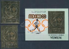 Summer Olympics perforated and imperforated stamp + block Nyári olimpia fogazott és vágott bélyeg + blokk