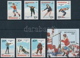 1987 Téli olimpia sor Mi 2738-2744 + blokk Mi 172