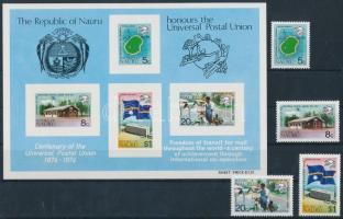 100th anniversary of UPU set + block, 100 éves az UPU sor + blokk