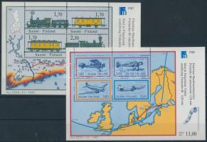 1987-1988 Transport 2 blocks 1987-1988 Közlekedés 2 klf blokk