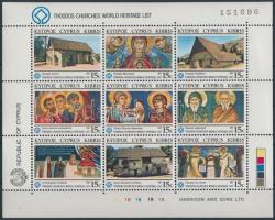 Cultural heritage, church minisheet Kulturális örökség, templom kisív