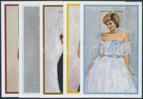 Princess Diana (I.) set in blockform, Diana hercegnő (I.) sor blokk formában