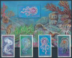 Jellyfish set + block Medúzák sor + blokk