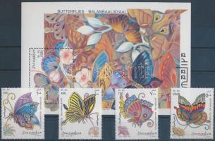 Butterfly set + block Lepkék sor + blokk