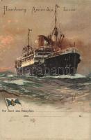 Hamburg-Amerika Linie. Kunstanstalt A. G. Wandsbek No. 633. litho s: Willy Stöwer