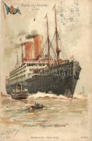 Doppelschrauben-Postdampfer Kaiserin Auguste Victoria. Hamburg-Amerika Linie. Mühlmeister & Johler No. 916. litho (EK)