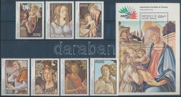 1985 Nemzetközi bélyegkiállítás ITALIA: Róma sor Mi 881-887 + blokk Mi 266
