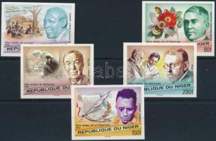 Nobel Prize winners imperforated set, Nobel díjasok vágott sor