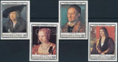 Dürer paintings imperforated set, Dürer festmények vágott sor