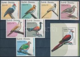 Pigeons set + block, Galambok sor + blokk