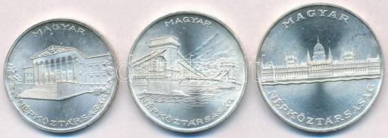 1956. 10Ft + 20Ft + 25Ft Ag Tízéves a Forint sor T:1-,2 kis ph. Adamo EM4, EM5, EM6