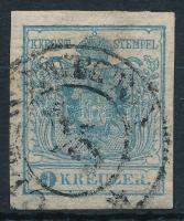1850 9kr HP I. világos szürkéskék ,,CL(AUSE)NBURG Certificate: Steiner