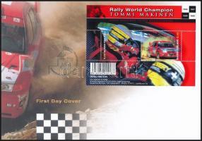 Car Racing block FDC Autóversenyzés blokk FDC-n