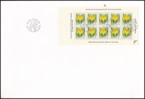 Definitive stamp-booklet sheet FDC, Forgalmi bélyegfüzetlap FDC-n