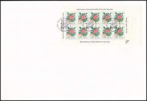 Definitive stamp-booklet sheet FDC Forgalmi bélyegfüzetlap FDC-n