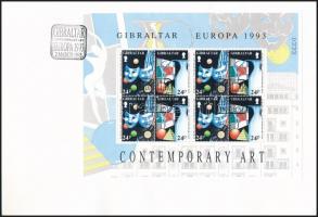 Europa CEPT: Art mini sheet set 2 FDC Europa CEPT: Művészet kisívsor 2 db FDC-n
